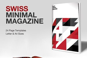 Swiss Minimal InDesign Magazine