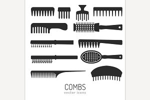 Combs vector icons