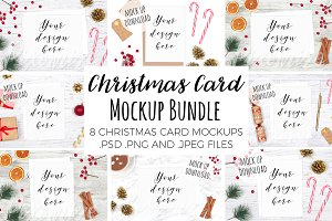 Christmas Card Mockup Bundle