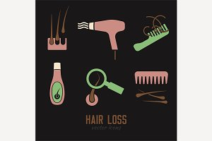 Hair Icons set