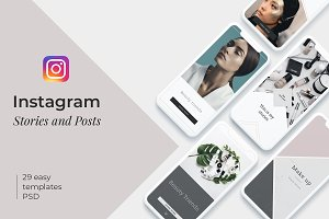 BEAUTY - instagram template + BONUS