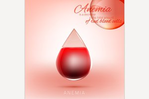 Anemia and Hemophilia concept