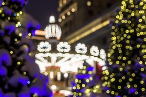 Blurred carrousel light