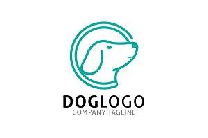 Dog Line Logo Template