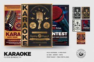 Karaoke Flyer Bundle V1