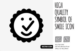 High quality symbol of smile icon
