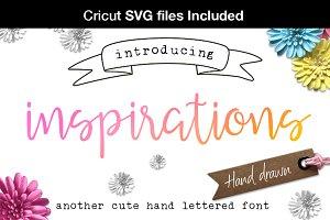 Inspirations script + Cricut SVG