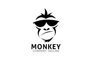 monkey geek logo template