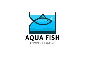 Aquarium Fish Logo Template