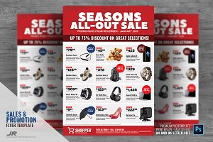 mega sale flyer flyer templates creative market