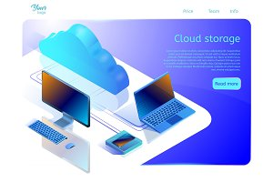 Cloud data storage web page