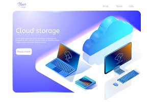 Cloud data storage concept