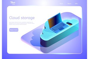 Cloud data storage abstract concept