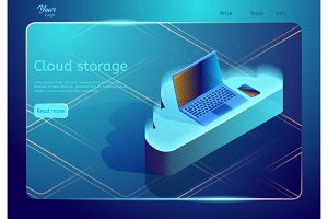 Isometric cloud data storage and