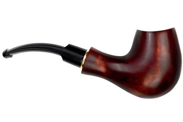 wooden tobacco pipe isolated on