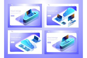 Isometric cloud data storage