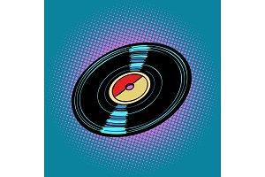 Vinyl record, music