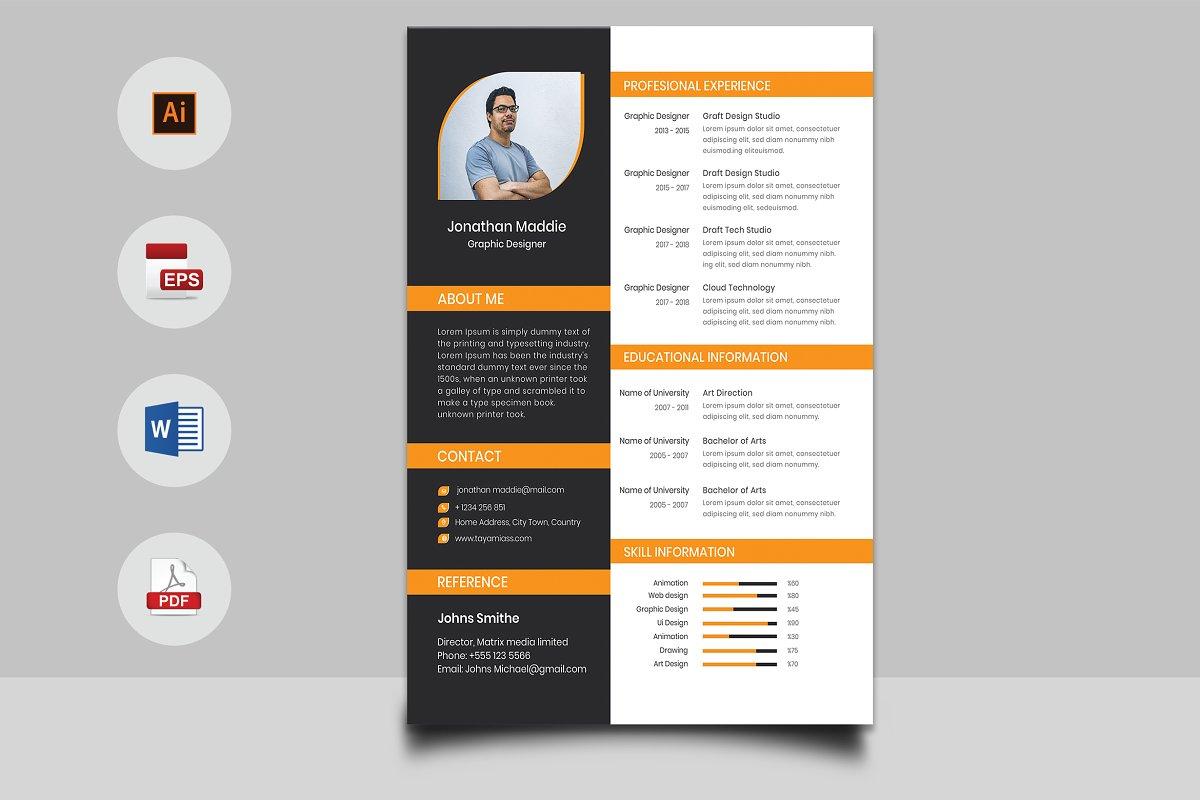 CV & Cover Letter Design ~ Cover Letter Templates ~ Creative ...