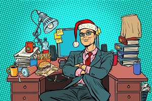 pop art businessman, Christmas