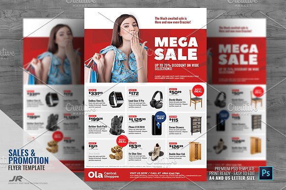 product sale and promotional flyer flyer templates creative market
