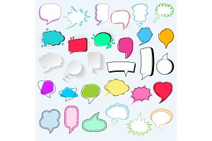 Bubbles vector blank speech bubbling