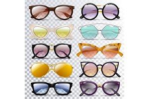 Glasses vector cartoon eyeglasses or