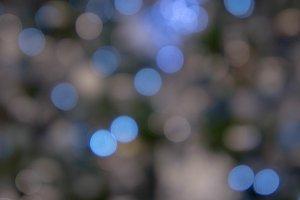 abstract bokeh night light style