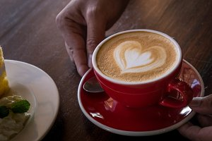 the red cup coffee love coffee heart
