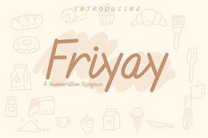 Friyay Handwritten Typeface