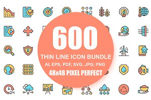 Flat Line Icons Pixel Perfect