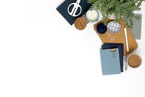 Chambray Blue Styled Desktop