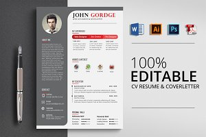 Professinal Job CV Resume Template