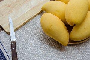 sweet yellow mango fruits