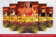 Firewoman Party Flyer