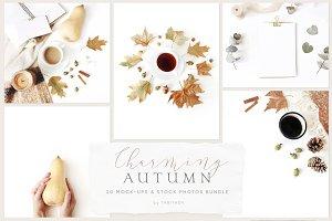 Charming autumn mockups & photos