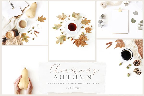 Product Mockups: Tabita's shop - Charming autumn mockups & photos