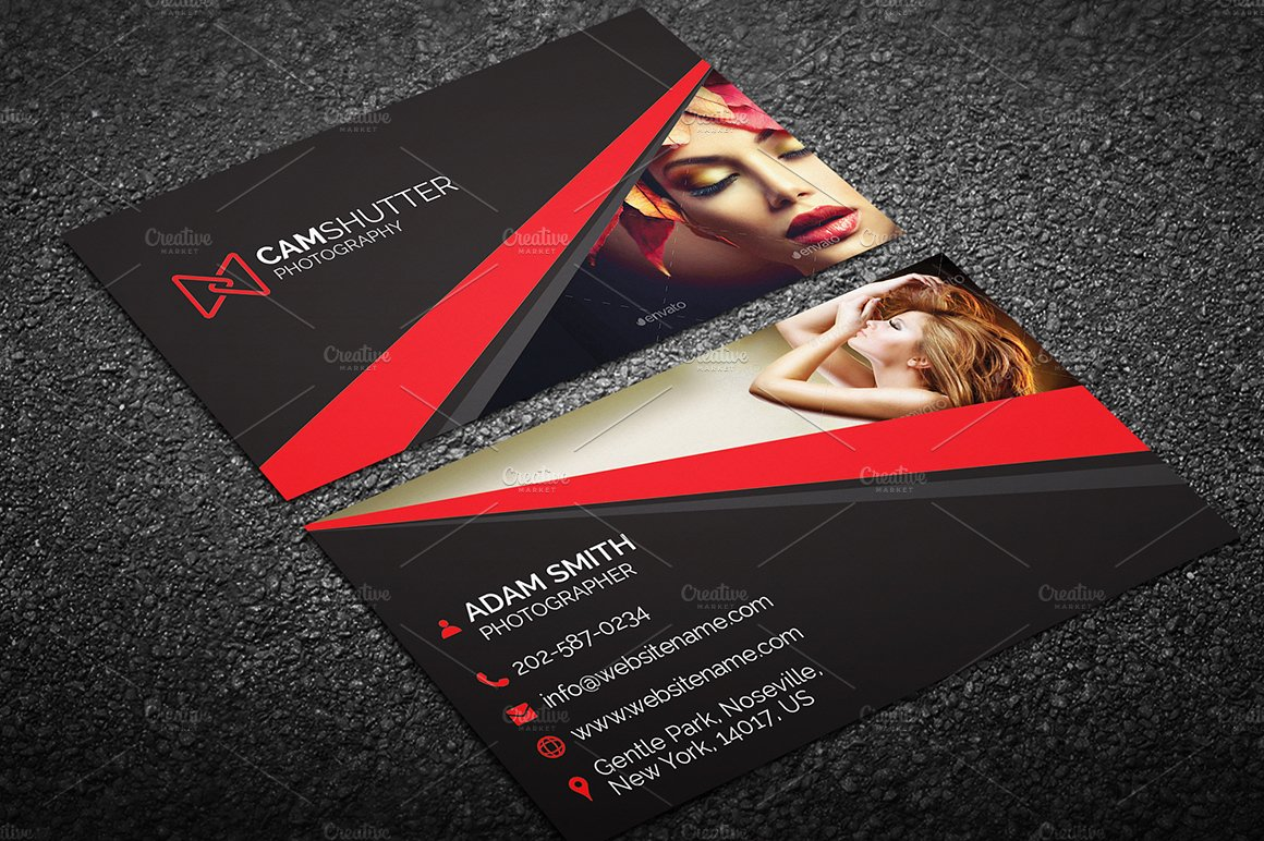 Photography business card 55 business card templates creative market accmission Gallery