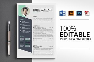 Stylish CV Word Resume Template