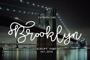 Brooklyn script font 40% off