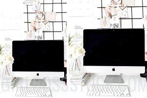 Styled Stock Desktop Mockup PNG