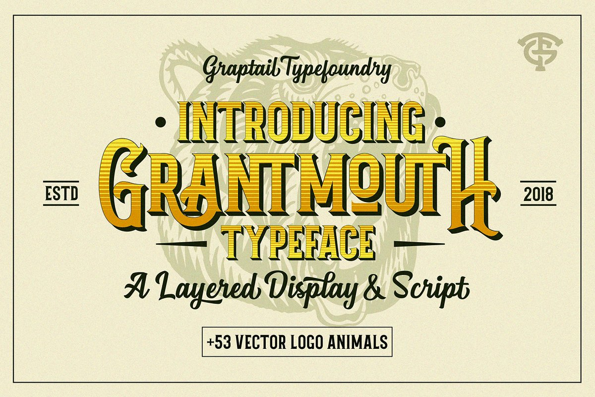 Grantmouth Font Duo + Extras ~ Display Fonts ~ Creative Market