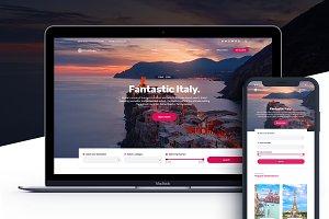 Cousteau Pro-Travel WordPress theme