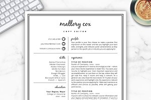 Resume Template/CV - Mallory