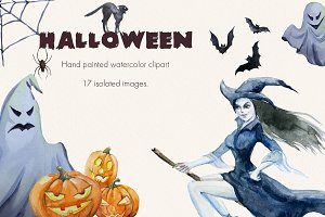 Halloween.Watercolor clipart