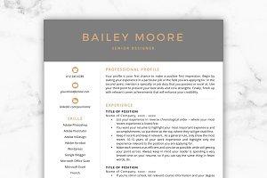 CV Template/Resume - Bailey