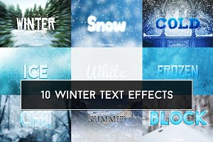 Winter Text Effects