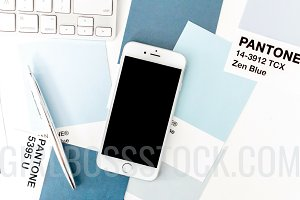 Styled Stock iPhone Mockup PNG