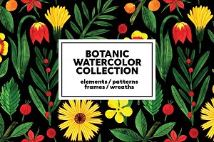Botanic Watercolor Collection
