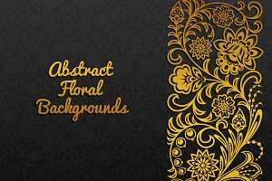 Backgrounds with floral ornament