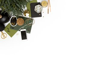 Green Styled Stock Mockup
